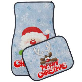Frohe Weihnachten Sankt und Ren Automatte