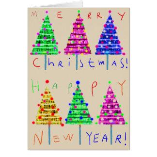 Frohe Weihnachten scherzen Kunst-Weihnachtskarten Karte