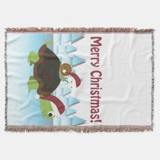 Frohe Weihnachten! Schildkröte und Schnecke Decke