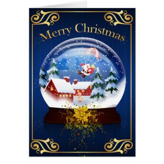 Frohe Weihnachten - Schnekugel Karte