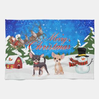 Frohe Weihnachten Shar Pei Geschirrtuch