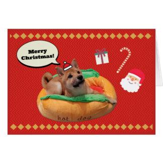 Frohe Weihnachten Shiba Karte
