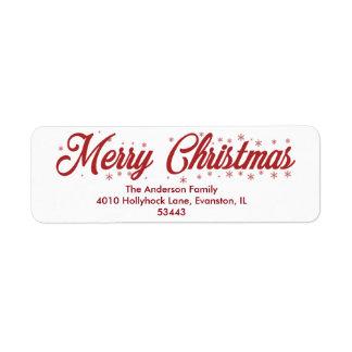 Frohe Weihnachten - Skript-Aufkleber