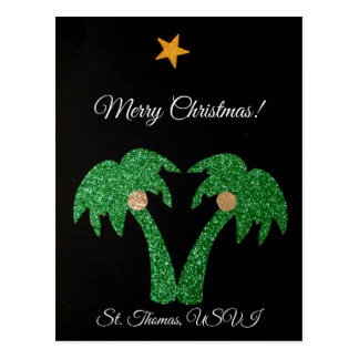 Frohe Weihnachten, St. Thomas USVI Postkarte