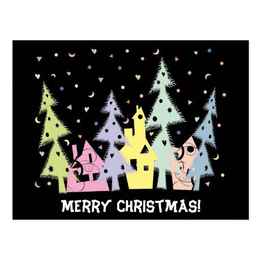 Frohe Weihnachten! Stadt Postkarten