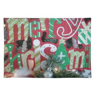Frohe Weihnachten Stofftischset