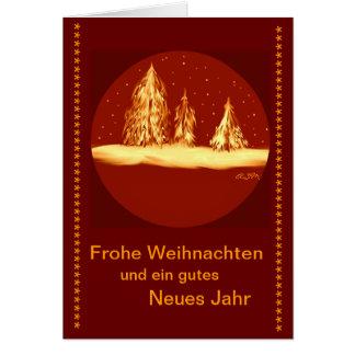 Frohe Weihnachten - Tannen-your text Karte