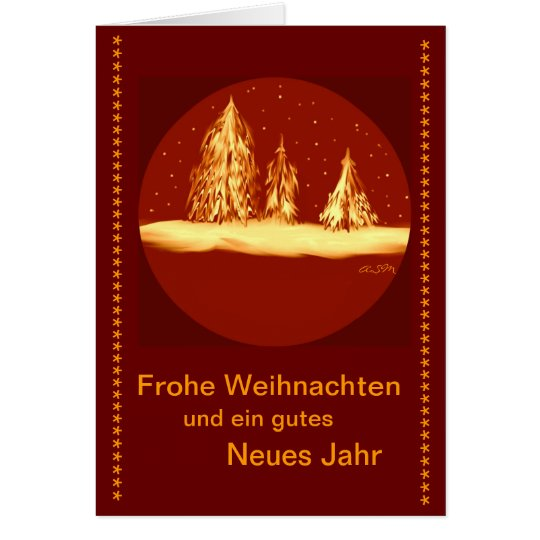 Frohe Weihnachten - Tannen-your text Karte