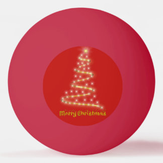 Frohe Weihnachten Tischtennis Ball