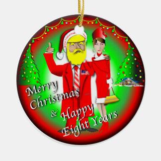 Frohe Weihnachten u. glückliche acht Jahre Keramik Ornament