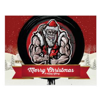 Frohe Weihnachten u. glückliches Anheben Postkarte