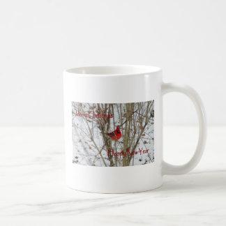 Frohe Weihnachten u. glückliches neues Kaffeetasse
