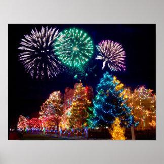 Frohe Weihnachten und frohe Feiertage Poster