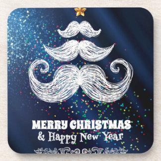 frohe Weihnachten und glückliches newyear Getränk Untersetzer