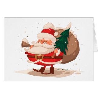frohe Weihnachten und glückliches newyear Karte