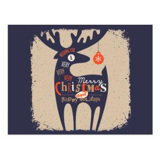 frohe Weihnachten und glückliches newyear Postkarte