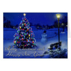 frohe Weihnachten und guten Rutsch ins Neue Jahr Karte