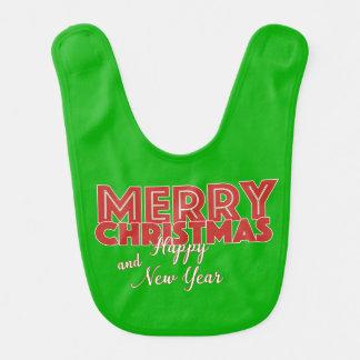 Frohe Weihnachten und guten Rutsch ins Neue Jahr Lätzchen