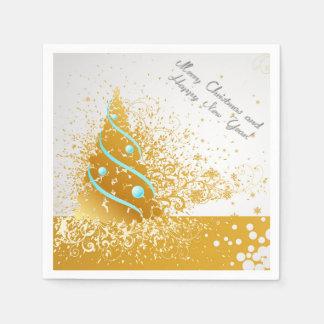 frohe Weihnachten und guten Rutsch ins Neue Jahr Papierserviette