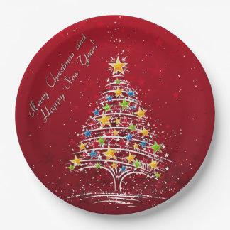 frohe Weihnachten und guten Rutsch ins Neue Jahr Pappteller