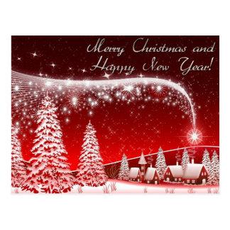 frohe Weihnachten und guten Rutsch ins Neue Jahr Postkarte
