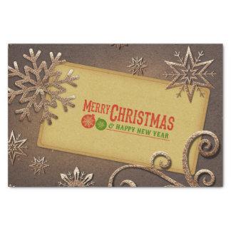 frohe Weihnachten und guten Rutsch ins Neue Jahr Seidenpapier