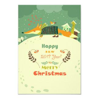 Frohe Weihnachten und Karte des guten Rutsch ins 8,9 X 12,7 Cm Einladungskarte