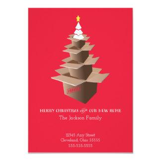 Frohe Weihnachten unsere neues Zuhause-bewegliche 11,4 X 15,9 Cm Einladungskarte