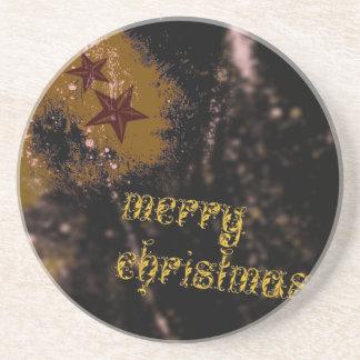 frohe Weihnachten Getränkeuntersetzer