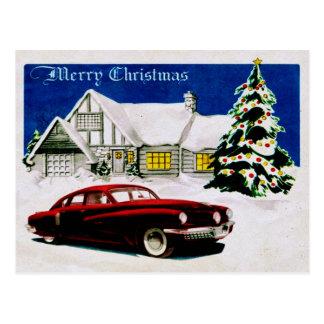 FROHE WEIHNACHTEN v.19 (Vintager Autoentwurf) ~ Postkarte
