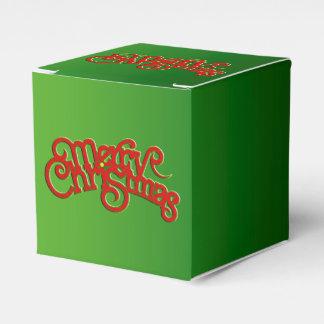 FROHE WEIHNACHTEN - Vintager Weihnachtstextentwurf Geschenkschachtel