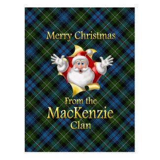 Frohe Weihnachten vom der Mackenzie-Clan Postkarte