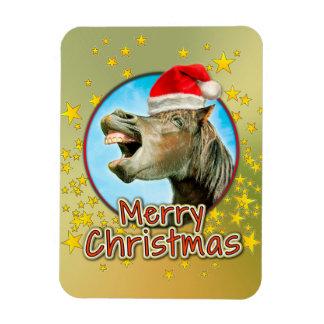Frohe Weihnachten vom lachenden Pferd Magnet