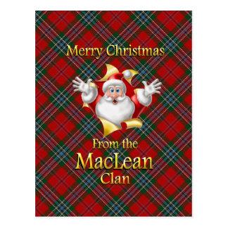 Frohe Weihnachten vom MacLean Clan Postkarte
