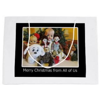 Frohe Weihnachten von allen uns Große Geschenktüte