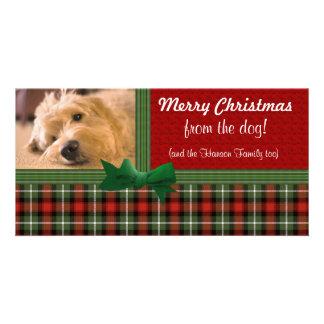 Frohe Weihnachten von der Hundegewohnheit Fotokartenvorlage