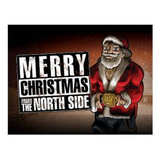 Frohe Weihnachten von der Nordseite Postkarte