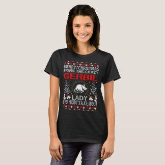 Frohe Weihnachten von Gerbil-Dame Ugly Sweater T-Shirt