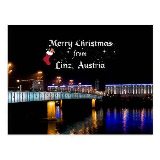 Frohe Weihnachten von Linz, Österreich Postkarte