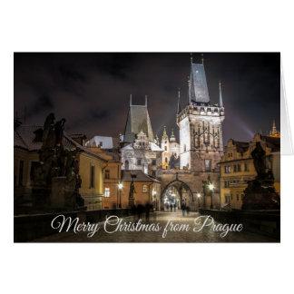 Frohe Weihnachten von Prag-Karte Karte