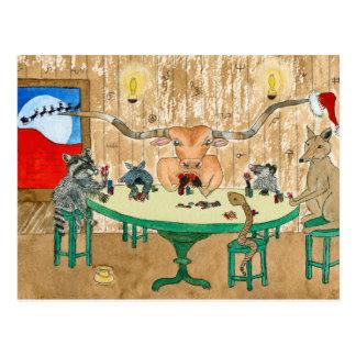 Frohe Weihnachten von Texas Postkarte