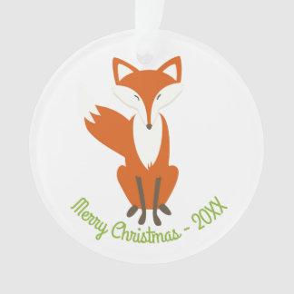 Frohe Weihnachten WaldFox - Kreis-Verzierung Ornament