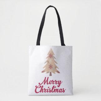 Frohe Weihnachten - Weihnachtsbaum - Tasche