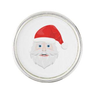 Frohe Weihnachten Weihnachtsmann Anstecknadel