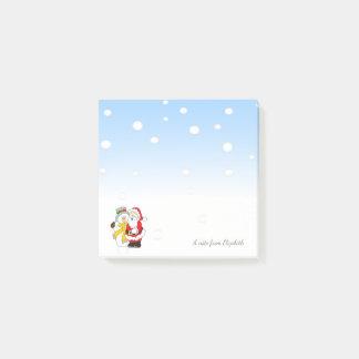 Frohe Weihnachten, Weihnachtsmann, Snowman - Post-it Klebezettel