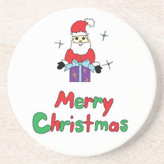 Frohe Weihnachten Weihnachtsmanns Getränkeuntersetzer