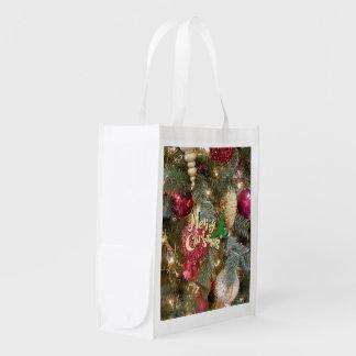 Frohe Weihnachten Wiederverwendbare Einkaufstasche