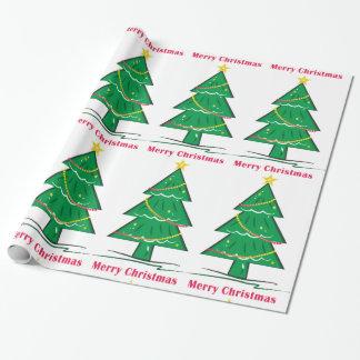 Frohe Weihnachten wünschen Weihnachtsbaum Geschenkpapier