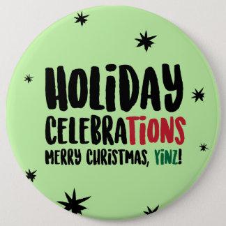 Frohe Weihnachten, Yinz Button