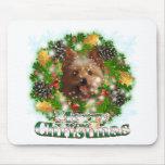 Frohe Weihnachten Yorkie Mauspad